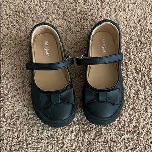 Little girls Toddler Size 9 Black Dress Shoes